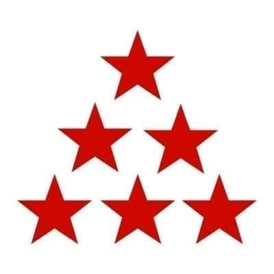 Наклейки к 9 Мая Звезды на авто