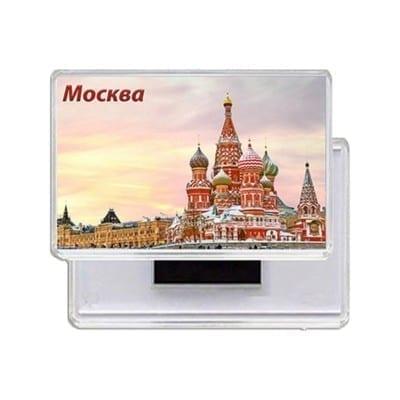 Прямоугольные магниты с Храмом Василия Блаженного