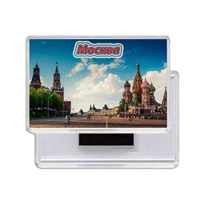 Прямоугольные виниловые магниты Москвы-Сити