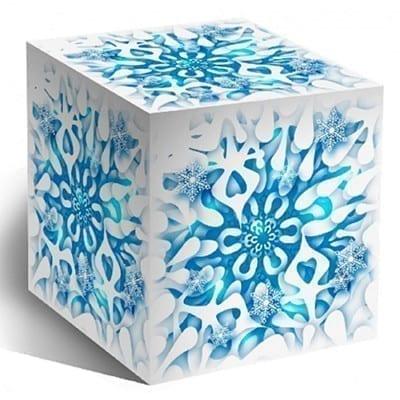 Коробка для кружек подарочная снежинка