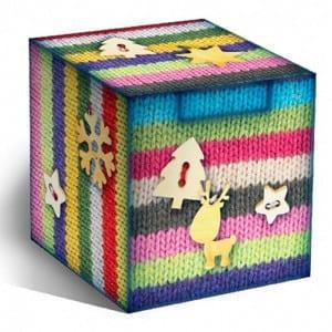 Коробка для кружек подарочная Вязаный рисунок