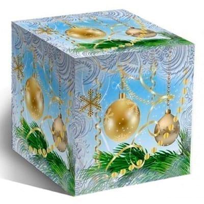 Коробка под кружку, Новогодние шары