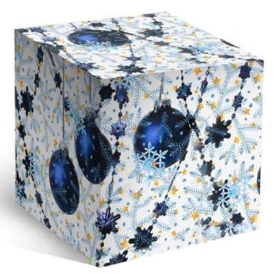 Коробка под кружку - Синие шары