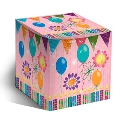 Коробочка для кружки воздушные шарики