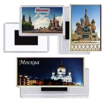 Сувенирные магниты с видами Москвы
