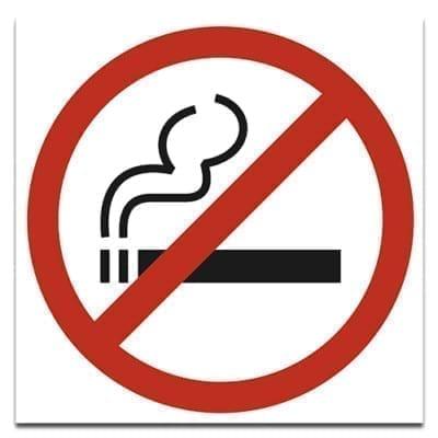 Знак не курить 20х20см.